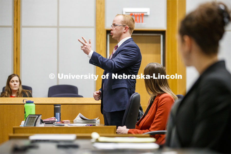 Trial advocacy class. College of Law photo shoot. November 7, 2019. Photo by Craig Chandler / University Communication.