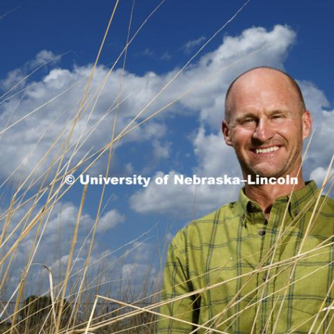 Jay Storz, Professor for the School of Biological Sciences is photographed at the Nine Mile Prairie northwest of Lincoln. May 30, 2018. Photo by Craig Chandler / University Communication.
