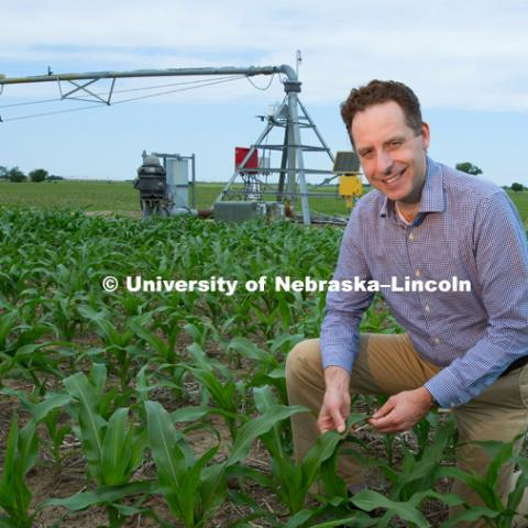 Nicholas Brozovic, Director for Water for Food Institute, and Professor for Agricultural Economics. Photo for the 2018 publication of the Strategic Discussions for Nebraska magazine. June 4, 2018. Photo by Greg Nathan, University Communication.