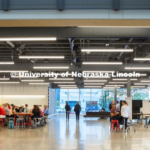 University of Nebraska - Johnny Carson Center for Emerging Media Arts. Photo courtesy of HDR © 2019 Dan Schwalm FOR USE ONLY ON UNL AND NU PUBLICATIONS AND WEBSITES. NOT TO BE GIVEN TO OUTSIDE GROUPS