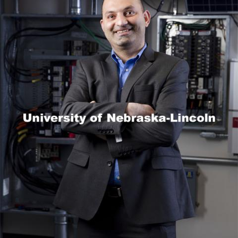UNL's Fadi M Alsaleem, an Assistant Professor of Architectural Engineering, poses for a portrait on Tuesday, February 23, 2021, at the Peter Kiewit Institute at the University of Nebraska at Omaha in Omaha, Nebraska. Photo by Ryan Soderlin / University Communications at University of Nebraska at Omaha.