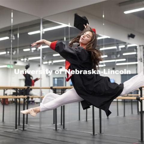 Anamaría Guzmán Cardenas – CAS, Neuroscience, Colombia – She was actively involved across UNL, including NSE orientation leader, and created her own degree program in neuroscience. After graduation, she's getting her master's degree in the science of movement, combining her passions for dance and neuroscience. April 23, 2021. Photo by Craig Chandler / University Communication.